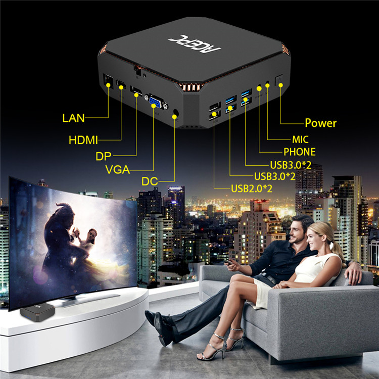 firmware update amlogic Intel Core 7th Generation i3-7100U android tv box with CK2 ACEPC win10 system internet tv box HDD player