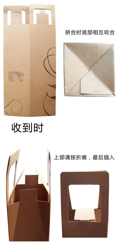 custom cheap recycled decorate luxury branded design classic cardboard paper wine boxes with window wholesale