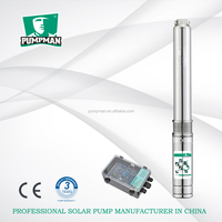 Pumpman 4 inches 4TSC three phase brushless DC motor solar submersible water pump borehole pump