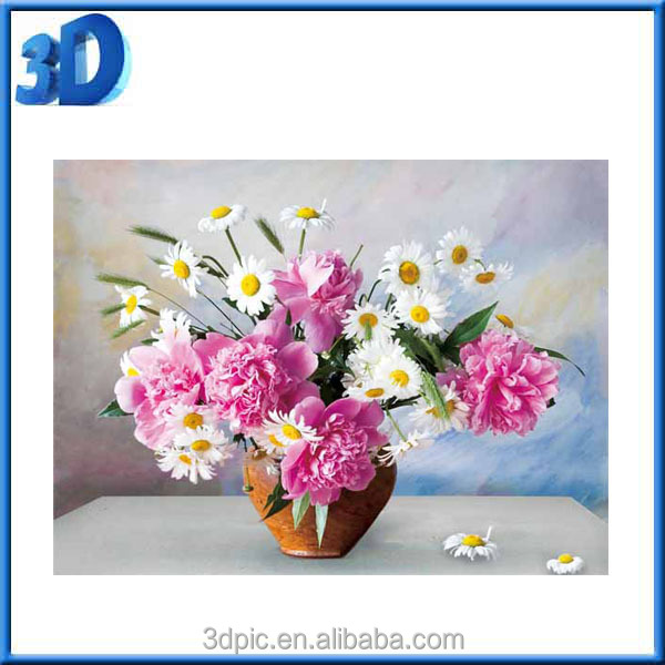 Factory wholesale High Definition 3D Lenticular flower Picture for home decoration