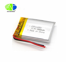 small size 114551 3.7V 3000mAh rechargeable lipo batteries battery on sale