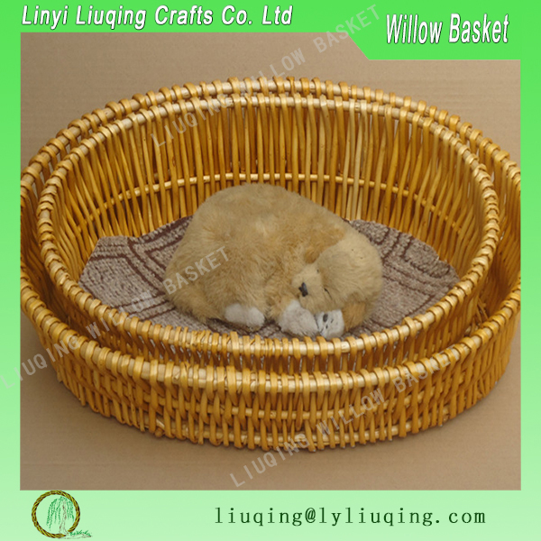 Willow wicker pets/dogs/cats baskets