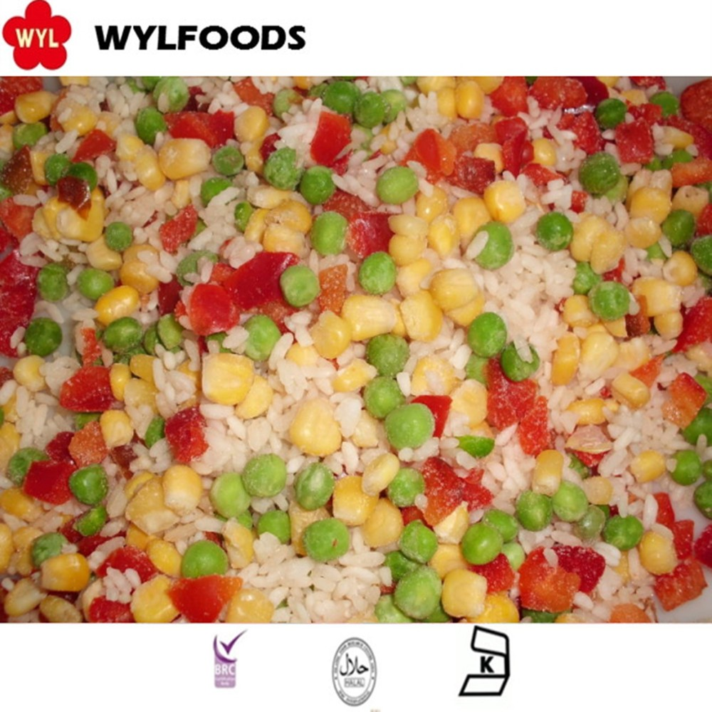 Bulk Wholesale Frozen Hawaii Mixed Vegetable With Rice Green Beans Sweet Corn Red Sweet Pepper