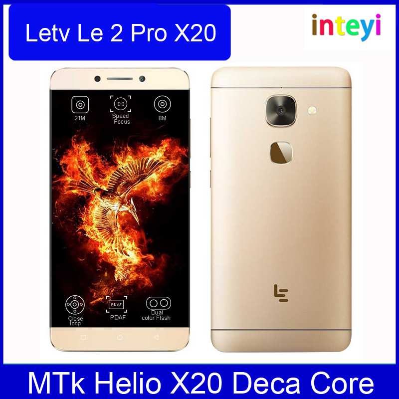 "Original Letv Le2 Pro LeEco Le2 Pro MTk Helio X20 Deca Core Mobile Phone 5.5"" 4GB RAM 32GB ROM Fingerprint ID 21.0MP Camera 4G"