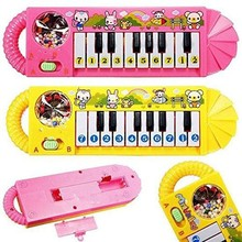 2015 ICTI factory hot new electroic mini toy piano, musical baby piano educational toy with good quality &cartoon image