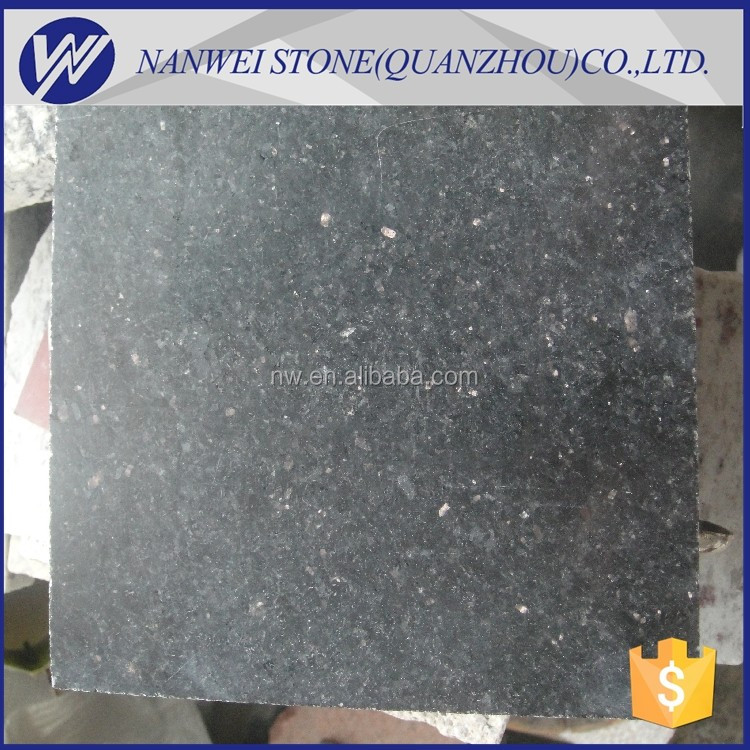india black gold star stone of black galaxy granite slabs and countertop