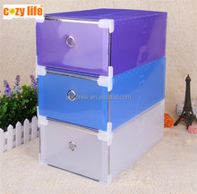 Home storage and organizer bins PP plastic container drawer clear shoe box