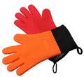 With cotton silicone thin waterproof gloves grill glove silicone bbq gloves