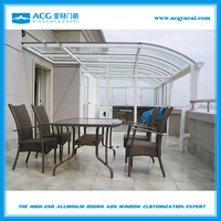 Outdoor glass winter garden room,Prefabricated garden glass house YGF-03