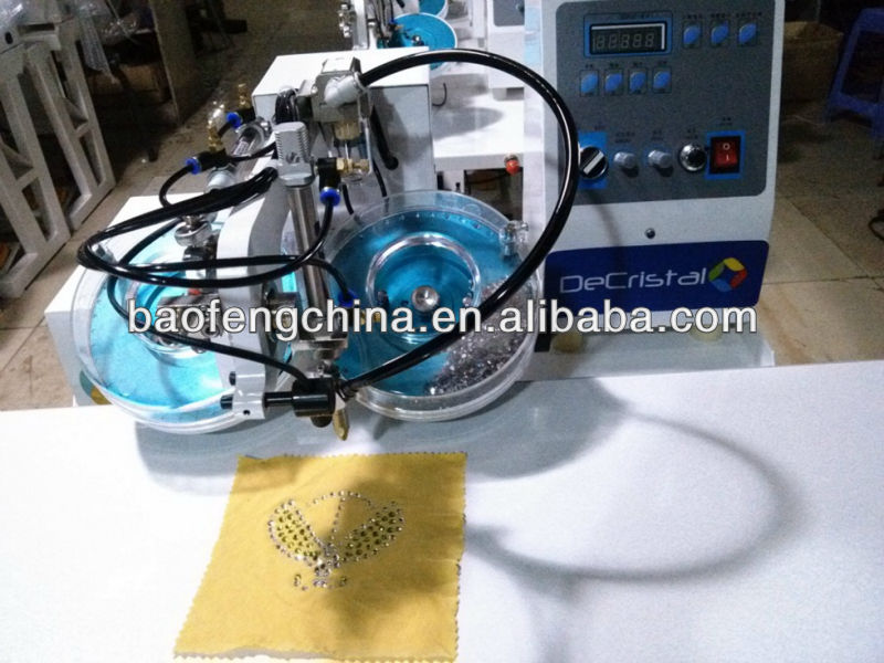 Baofeng Decristal double-plate rhinestone hot-fix machine for sale