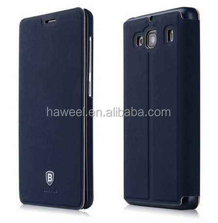 Baseus Terse Series Smart Cover Leather Case with Holder for Xiaomi Redmi 2(Dark Blue)