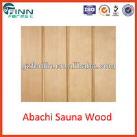 Abachi sauna wood and wood timber for sauna room