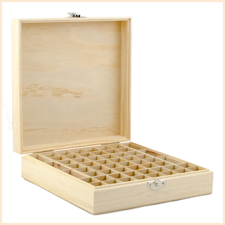 Custom pine bamboo wooden essential oil packaging storage box