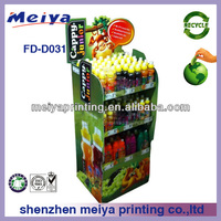 2014 Meiya design super quality/strong structure friut beverage floor display rack/shelf for supermarket/store advetising