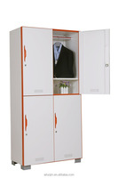 Philippine Knock down cabinet design of room almirahs 4 door locker