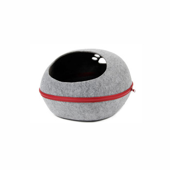 Quick Shipment Felt Pet Cave Bed With Paw Window,Pet Cave House