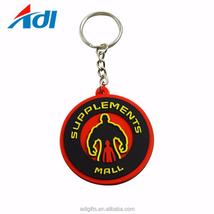 Custom 2d shaped soft souvenir pvc keyring keychain for promote