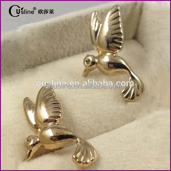 Fashion bird lapel pin, metal lapel pin for dressing decoration