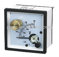 Square Type Moving Iron Voltmeter with Selector Switch