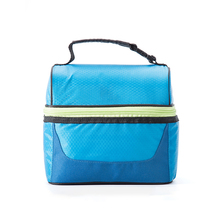 New Recycle Material Custom Made Punching Bags Bicycle Cooler Multi-Compartment Lunch Bag