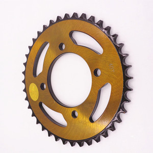 Indonesia market motorcycle rear and front sprocket and chain,facory cheap price