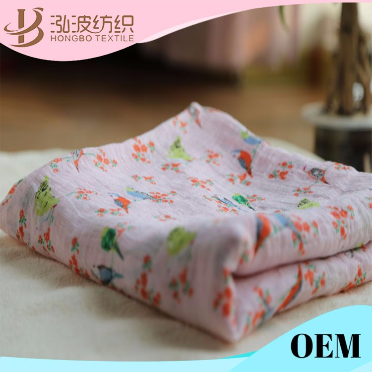 100% cotton print flannel muslin swaddle blanket