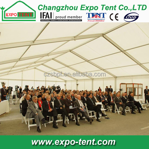 large outdoor meeting tent to hold 500 people