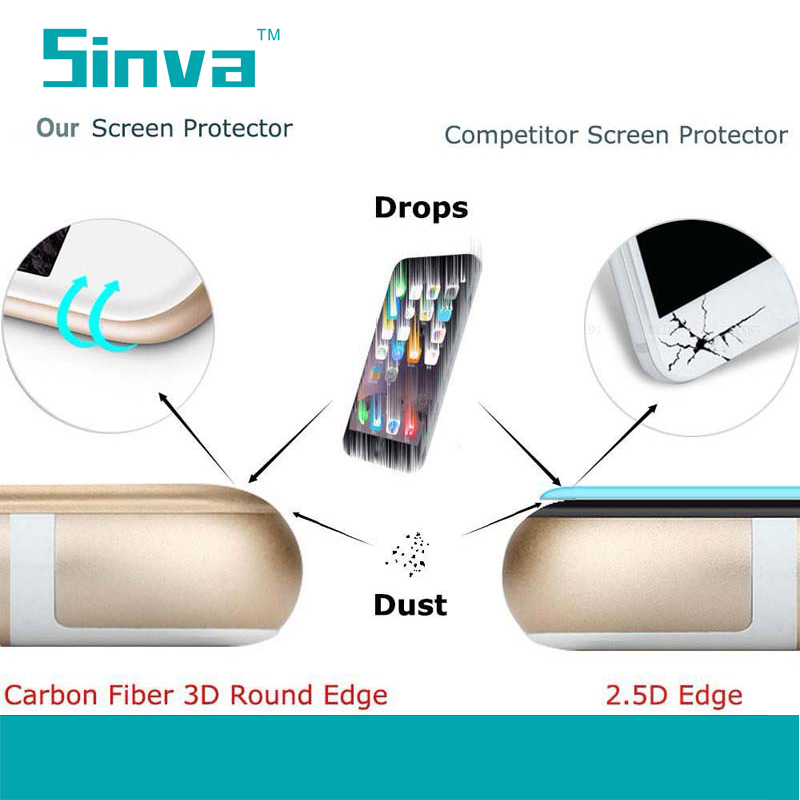 Brand sinva top quality Tempered Glass Screen Protector Flim For ipad pro (0.3mm ,2.5D, 9H ) with fast delivery