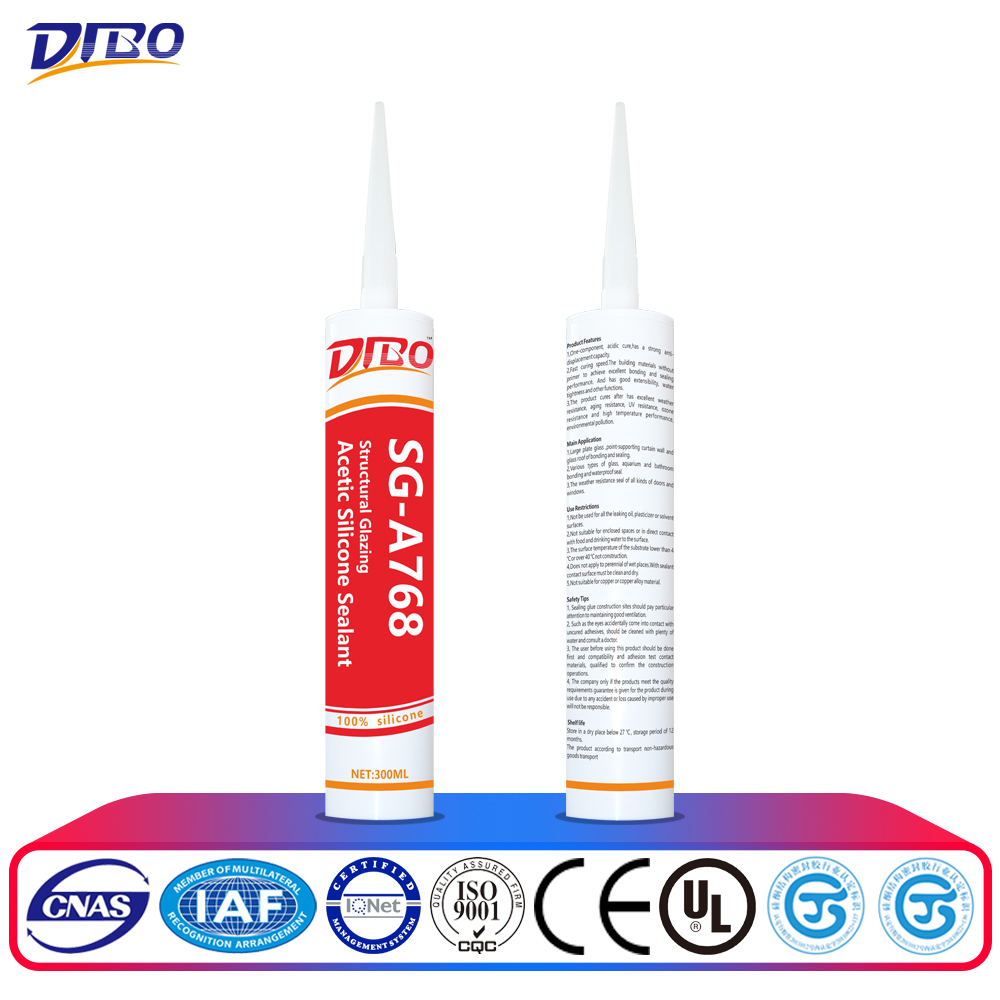 quick dry waterproof glass roof silicone sealant
