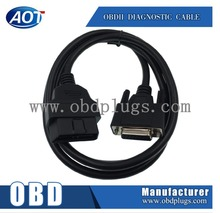 Car obd ii connector cable to 2*DB9 diagnostic tools