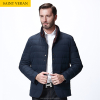 high quality fashion windpoof two colors two zipper pocket down jacket for men