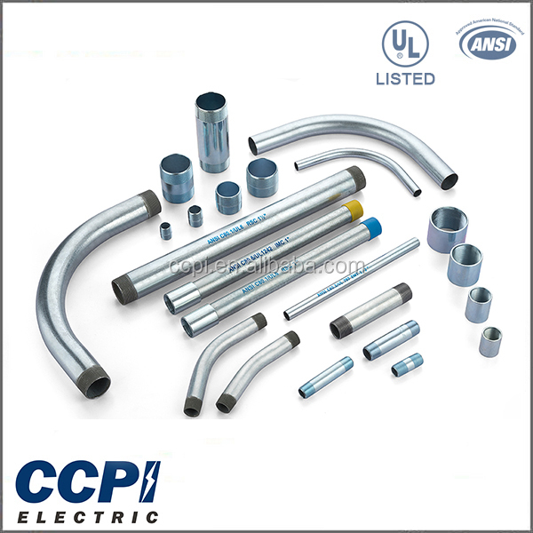 "Alibaba Made In China CCPI Electrical Conduit Pipe Factory 1/2""-6"" Steel Tubing/ Rigid Conduit With End-cap"