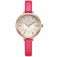 2015 Leather Bracelet Ladies Watch With Vogue Trendy Design Fashion Women Watches Cheap Price Ladies Leather Wrist Watches