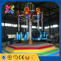 Amusement park common carnival rides air shot ride kids playground games spiral jet