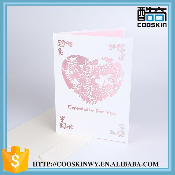 Unique design hot sale 2016 wedding invitation card