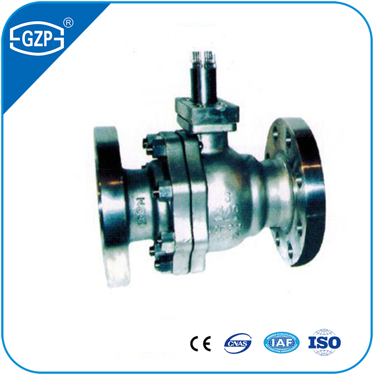 China made hot sales WCB and CF8 material flanged connection working pressure 150LB 300LB 600LB trunnion-mounted ball valve