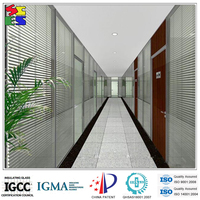 Modern style design glass with office roller window blinds
