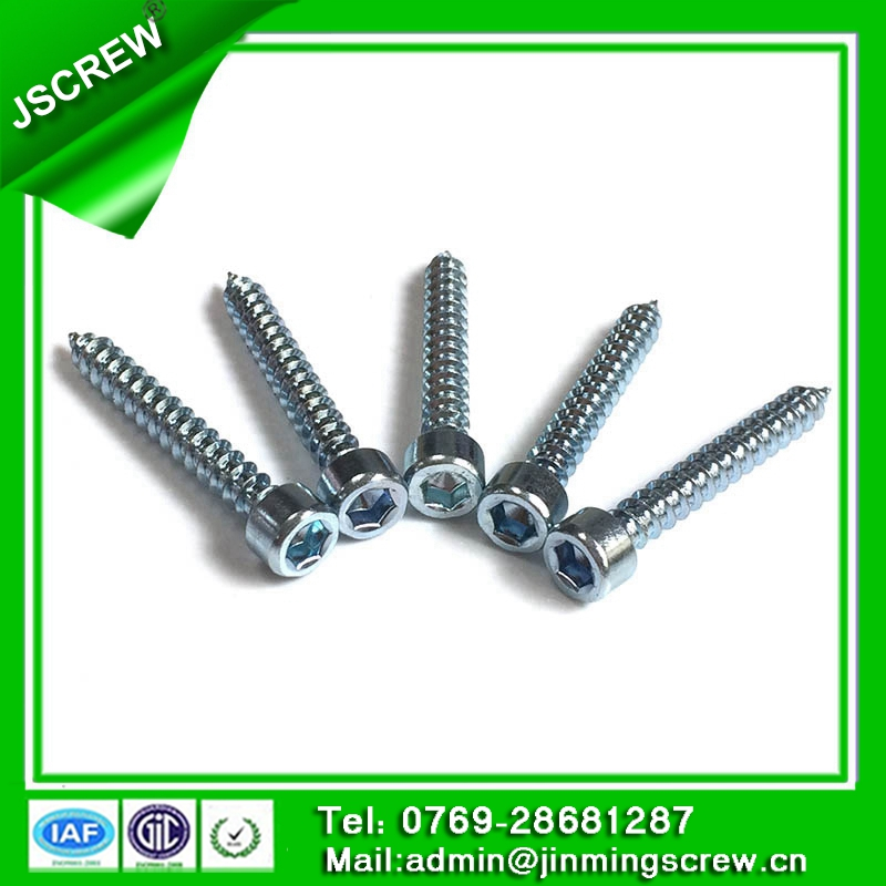 M5 hex socket cap head carbon steel self tapping wood screw