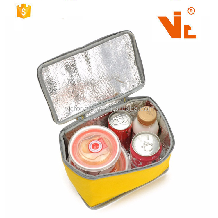 V-CB002 Wholesale disposable thermal aluminum film insulated cooler bag zero degrees inner cool for frozen food and lunch