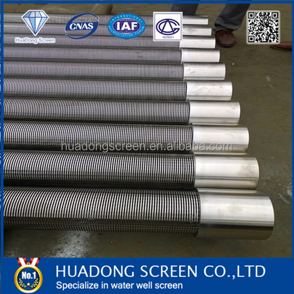 Stainless steel 304 wire mesh water well screen / Johnson screen for water well