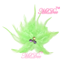 Seven Colors Feather Flower Headpieces Girls Hair Accessories For Dance Party