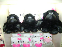 25cm promotional customized stuffed black plush King Kong gorilla forest animal toy