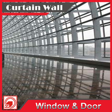 Experienced aboard construction team luxury aluminium curtain glass wall