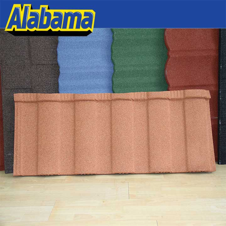 Free samples are available for checking colorful sand coated metal roof tile for house, popular galvanized stone roof tile
