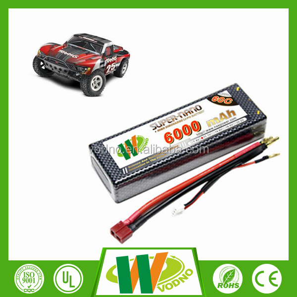 High quality 7.4V 6000mah 60C helicopter battery RC lipo battery rc car battery pack