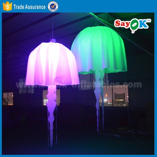 new inflatable led jellyfish balloon hanging weeding decoration inflatable jellyfish balloon light