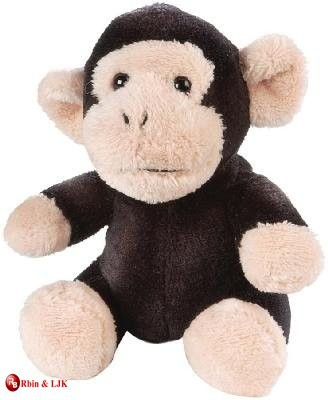 custom promotional lovely plush chimpanzee