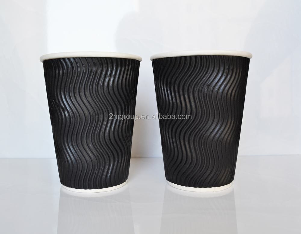 Food trading company of blank ripple double wall materials of coffee paper cups
