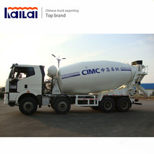 China factory Faw truck mounted concrete mixer mobile concrete mixer truck with pump