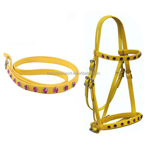 High Speed Keep Horse Safety Fancy PVC Horse Bridles for Racing